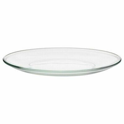ОППЕН Тарелка, прозрачное стекло,23 см