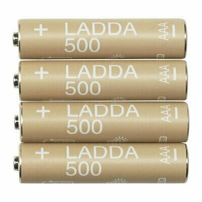Аккумуляторная батарейка ЛАДДА,Размер HR03 AAA 1,2 В, 500 мА·ч, 4 шт