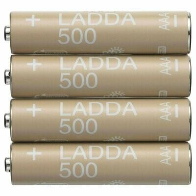 ЛАДДА Аккумуляторная батарейка, HR6 AA 1,2 В, 500 мА·ч.