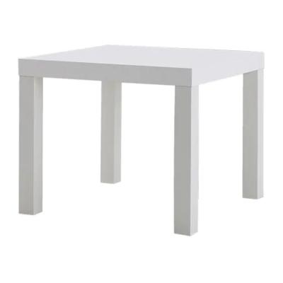 Придиванный столик ЛАКК, белый/55x55 см