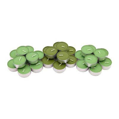 СИНЛИГ Свеча греющая ароматическая, Яблоко и груша, зеленый / 30 шт