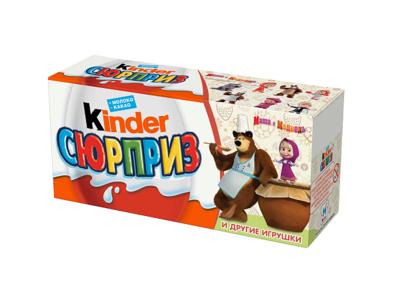 Яйцо шоколадное KINDER Сюрприз молочный шоколад с игрушкой 20г*3
