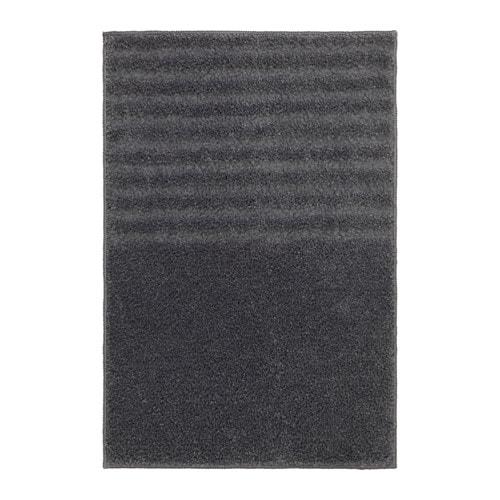ВОКСШЁН Коврик для ванной, темно-серый    40x60 см