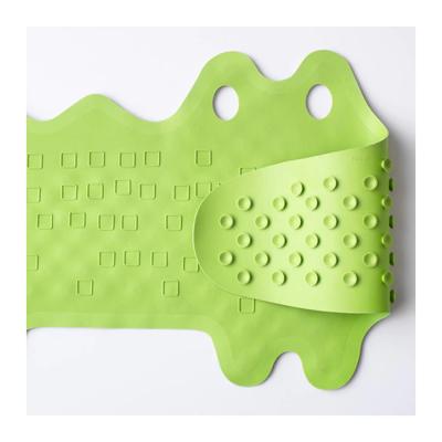 Коврик в ванну ПАТРУЛЬ, крокодил зеленый, 33x90