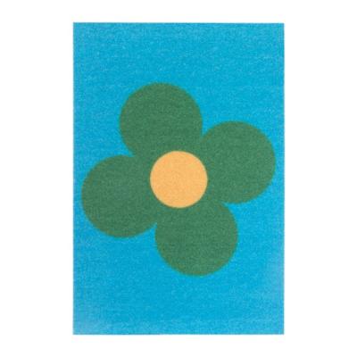 СОММАР 2019 Придверный коврик, большие цветы синий, зеленый 40x60