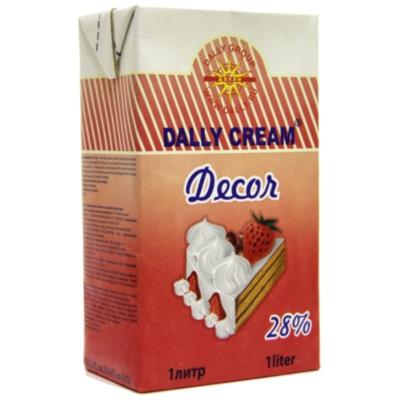 Растительные сливки dally cream decor 28%. Для взбивания с сахаром 1 л