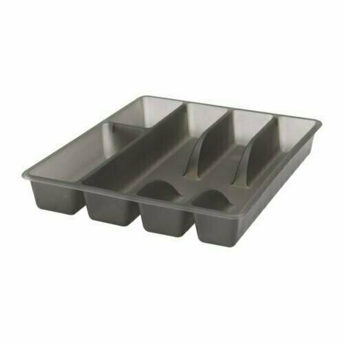 СМЭККЕР Лоток для столовых приборов, серый, 31x26 см