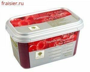 Пюре из малины с/м 10% сахара 1 кг, Франция, Ravifruit