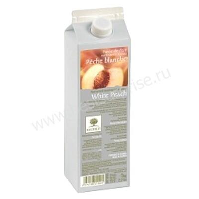 Фруктовое пюре Ravifruit Белый персик в тетрапаке 1 кг, пастеризованное
