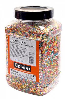 Посыпка кондитерская вермишель разноцветная Профи 850г