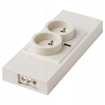 2-местный блок с USB-портом, УТРУСТА, белый