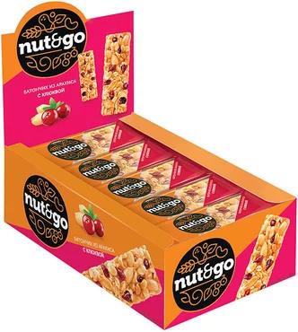 Батончик «Nut N Go» из арахиса и клюквы, 42 г