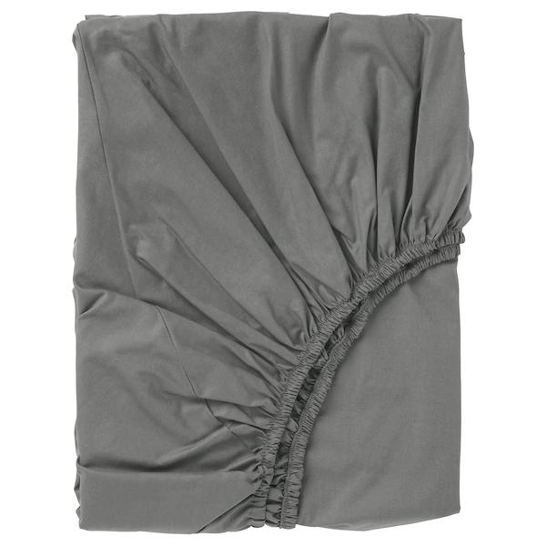 УЛЛЬВИДЕ Простыня натяжная, серый, 90x200 см
