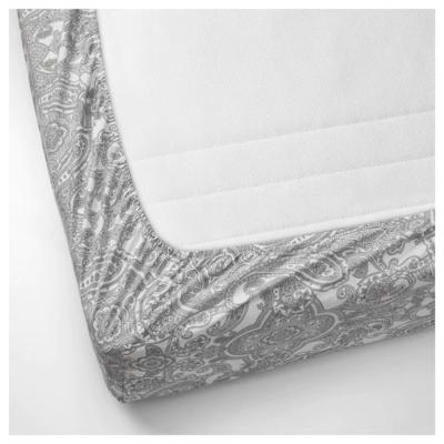 ЙЭТТЕВАЛЛМО Простыня натяжная, белый, серый, 90x200 см