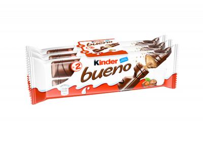 Вафли Kinder bueno в мол шоколаде 43г*3