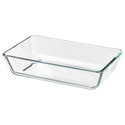 МИКСТУР Форма/блюдо д/дхвк, прозрачное стекло, 27x18 см