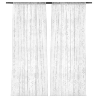 РОЗЕНМАЛЬВА Гардины, 1 пара, белый, 145x300 см