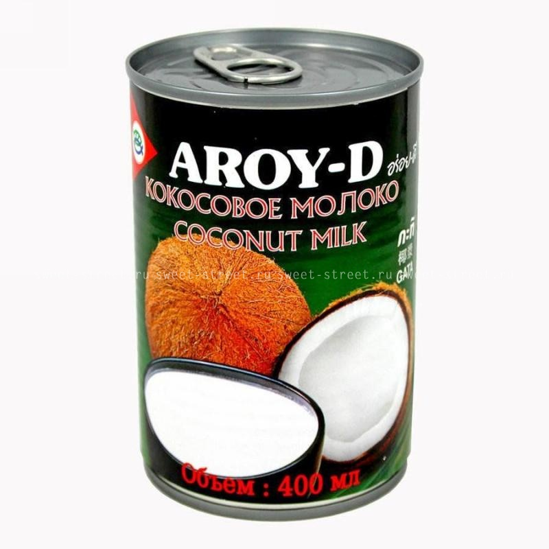 Молоко кокосовое концентр. 400 мл. AROY-D, Тайланд