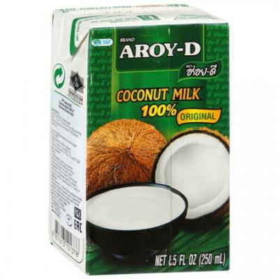Молоко кокосовое 60% 1 л. Tetra Pak AROY-D, Тайланд