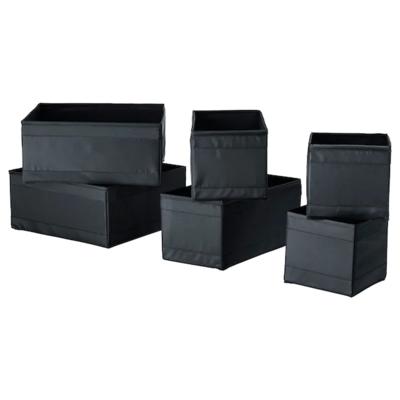 СКУББ Набор коробок, 6 шт., черный