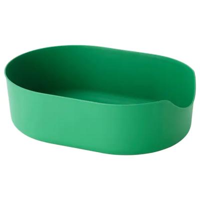 ЛУРВИГ Лоток для наполнителя, зеленый  37x51 см