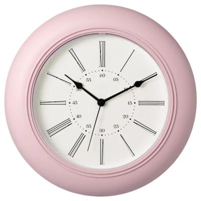 СКАЙРОН Настенные часы, белый, серый, розовый, темно-коричневый