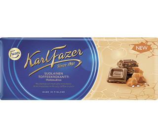 Шоколад молочный FAZER в соленой карамели, 200 г