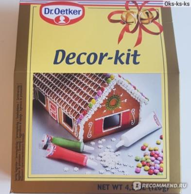 Набор кондитерского декора Decor-kit для пряничного домика