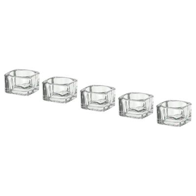 ГЛАСИГ Подсвечник для греющей свечи, прозрачное стекло, 5x5 см