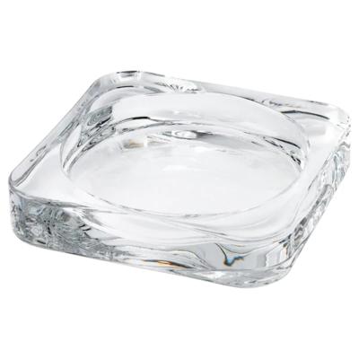 ГЛАСИГ Тарелка для свечи, прозрачное стекло, 10x10 см