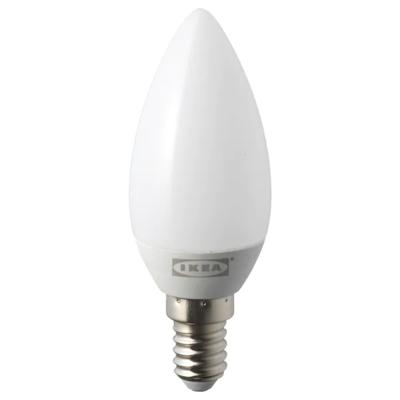 РИЭТ Светодиод E14 200 лм, свечеобразный молочный