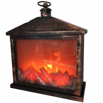 Электрический камин LED Fireplace Lantern