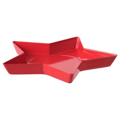 ВИНТЕРФЕСТ Тарелка для свечи, звезда, красный, 15 см