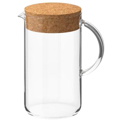 ИКЕА/365+ Кувшин с крышкой, прозрачное стекло, пробка, 1.5 л