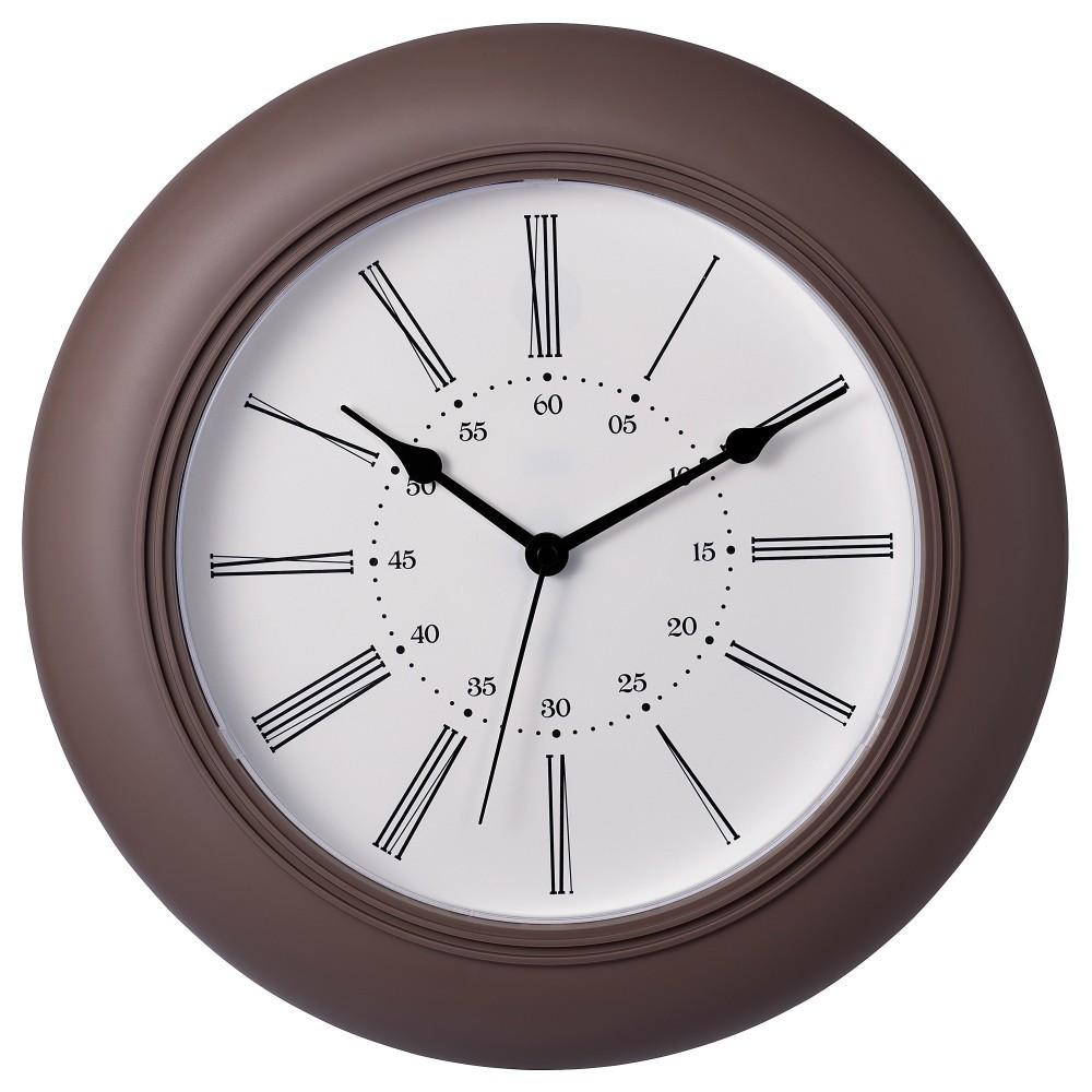 СКАЙРОН Настенные часы, темно-коричневый