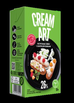 Крем на растительных маслах CreamArt, декор, 26%, 1л, веган