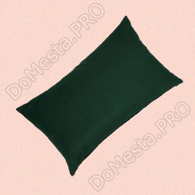 САНЕЛА Чехол на подушку, темно-зеленый, 40x65 см