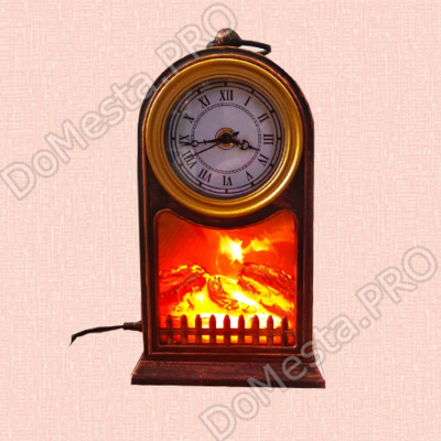 Электрический камин/часы led fireplace lantern sp 14