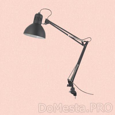 ТЕРЦИАЛ Лампа рабочая, темно-серый