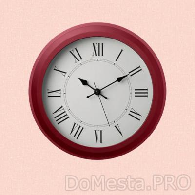 НУФРА Настенные часы, красный, 25 см