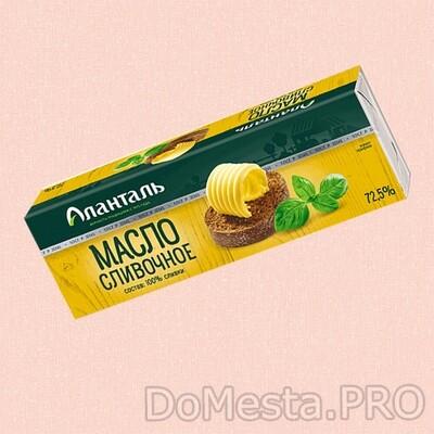 Масло сливочное Крестьянское Аланталь 72,5% 450г БЗМЖ