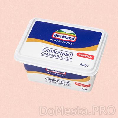 Сыр плавленый Hochland сливочный 400 г ванночка