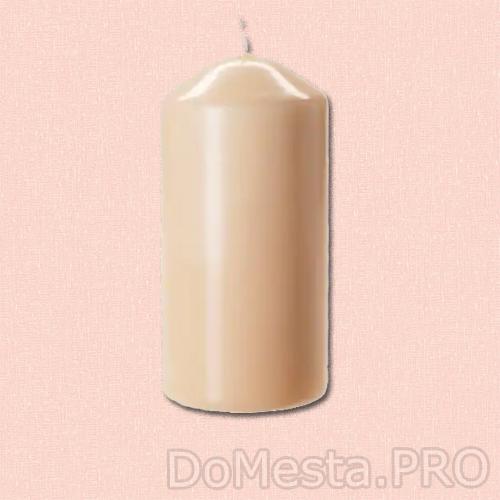 ДАГЛИГЕН Неароматич свеча формовая, светло-оранжевый, 14 см