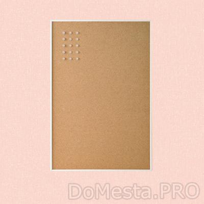 ВЭГГИС Доска для записей, с кнопками, белый, 58x39 см