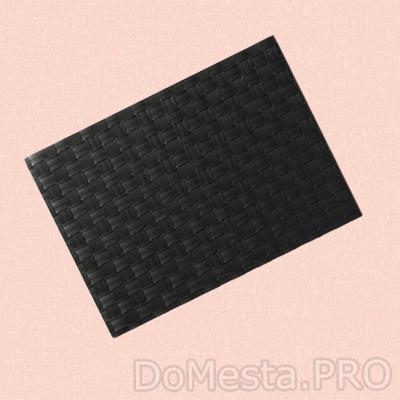 УРДЕНТЛИГ Салфетка под приборы, черный, 46x33 см