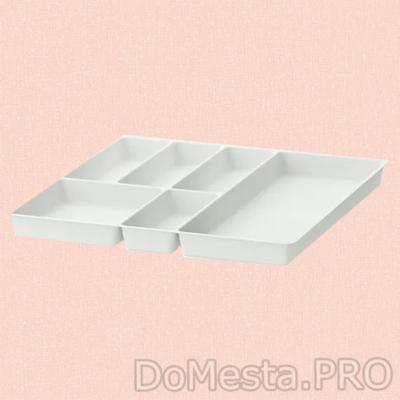 СТОДЬЯ Лоток для столовых приборов, белый, 51x50 см