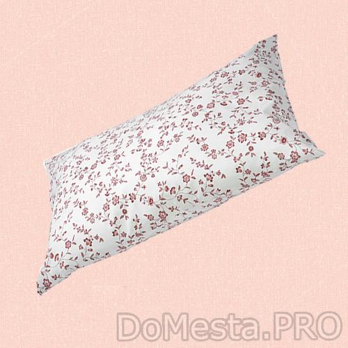 ХЭССЛЕКЛОККА Наволочка, белый, розовый, 50x70 см