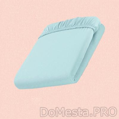 ДВАЛА Простыня натяжная, голубой, 140x200 см