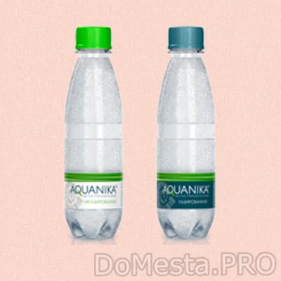 Aquanika – вода с газом и без газа. 0,25 л