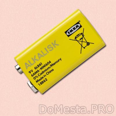 ALKALISK батарейка щелочная 6LR61